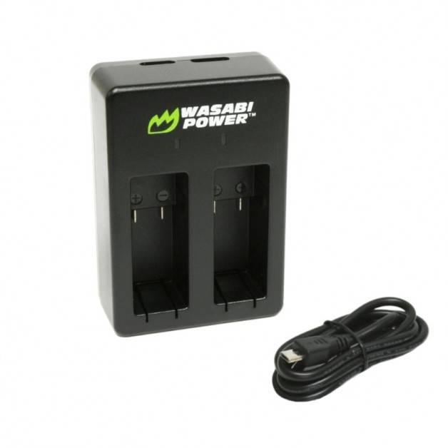 Wasabi Power Batteriladdare för GoPro Hero5 batterier AHDBT-501 - Dubbel