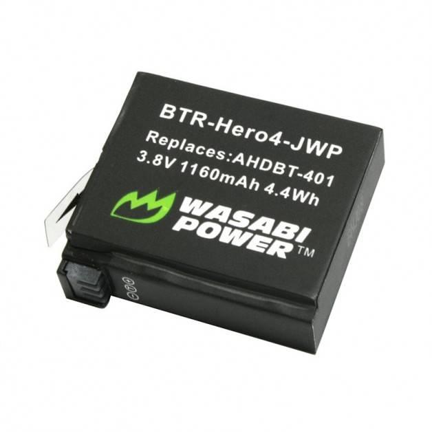 Wasabi Power Batteri till GoPro Hero4 - ersätter AHDBT-401 - 1160mAh