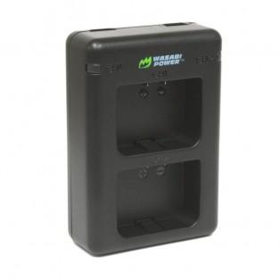 Wasabi Power Batteriladdare för Garmin VIRB X, VIRB XE batterier- Dubbel