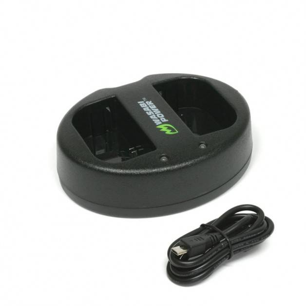 Wasabi Power Batteriladdare för Canon LP-E6 batterier - Dubbel
