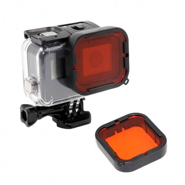 Färgfilter för dyking Röd - Hero5/6 i Super Suit vattentätt originalskal