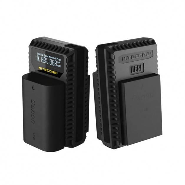 Nitecore Batteriladdare UCN1 för Canon LP-E6 / LP-E8 batterier - Kombo