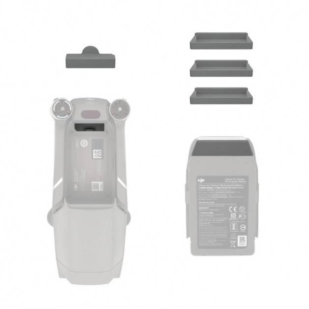 Skydd / Plugg för batterikontakter till DJI Mavic 2 Pro / Zoom - Silikon - Grå - Kit