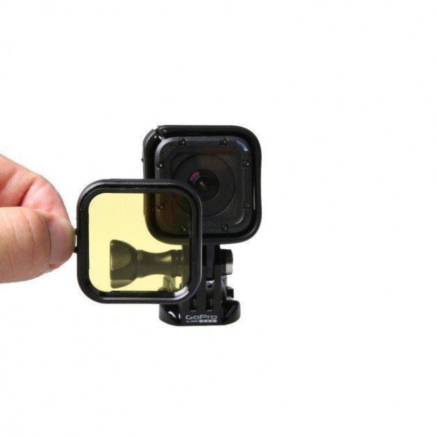 Färgfilter till GoPro Hero4 Session för dykning - Gul