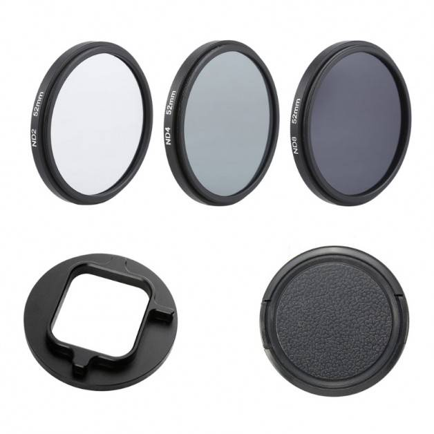 ND-Filter 3-pack till GoPro Hero5/6 - ND2 + ND4 + ND8 - Kit