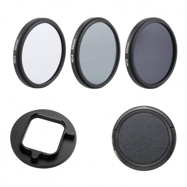 ND-Filter 3-pack till GoPro Hero5/6 - ND2 + ND4 + ND8 - Kit