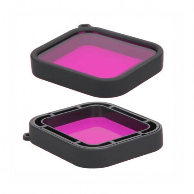 Färgfilter för dyking Lila - Hero5/6/7 i vattentätt skal