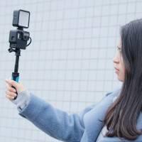 Skyddsram Vlog med tillbehörshållare hot/cold shoe och hållare för mikrofonadapter till GoPro Hero5/6/7 - Kit