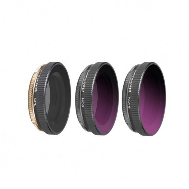 Filter 3-pack - ND8 + ND16 + CPL till DJI Osmo Action - Kit