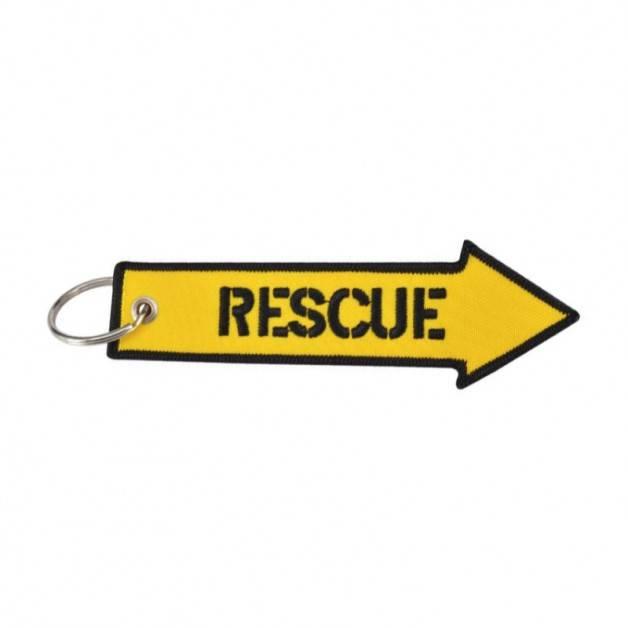 Nyckelband - RESCUE - Gul pil