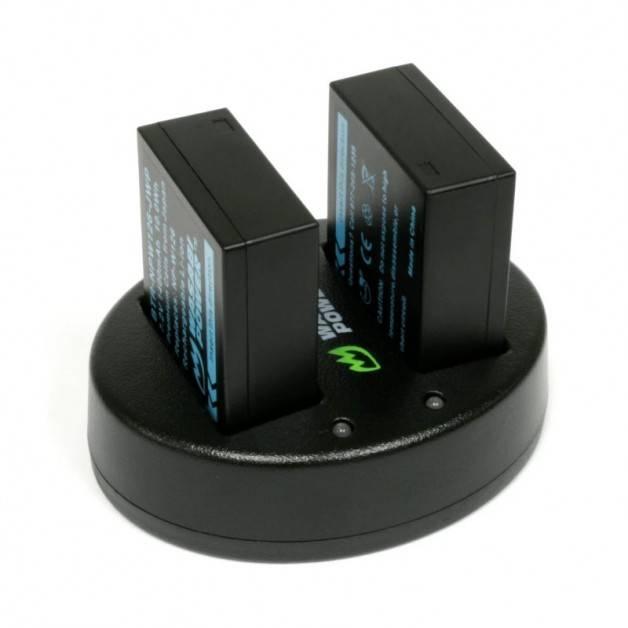 Wasabi Power Batteriladdare för Fujifilm NP-W126 / NP-W126S batterier - Dubbel