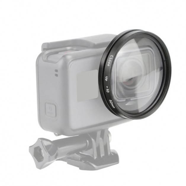 Makrolins 10x förstoring med 52mm filteradapter för GoPro Hero5/6/7 Black