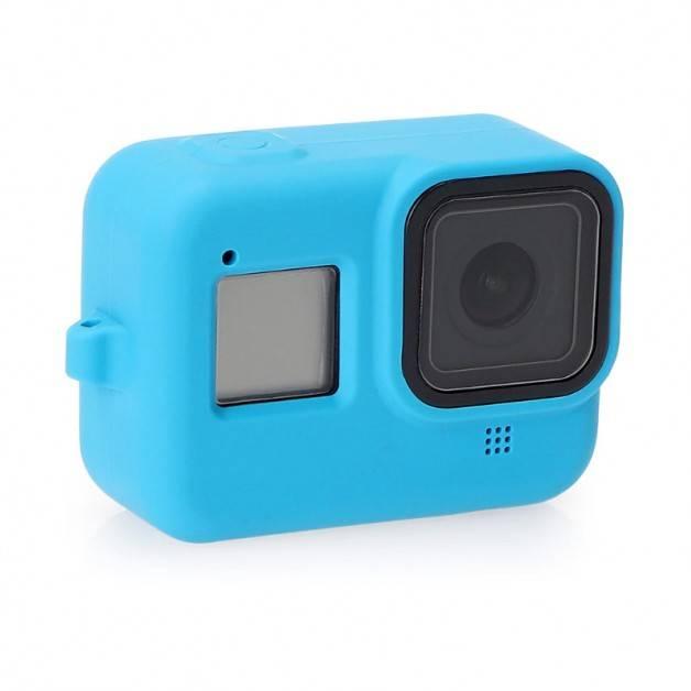 Silikonskal till GoPro Hero8 Black - Handledsrem - Blå
