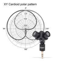 Comica CVM-VS10 Kardioid Stereomikrofon XY till Mobil / Kamera / PC