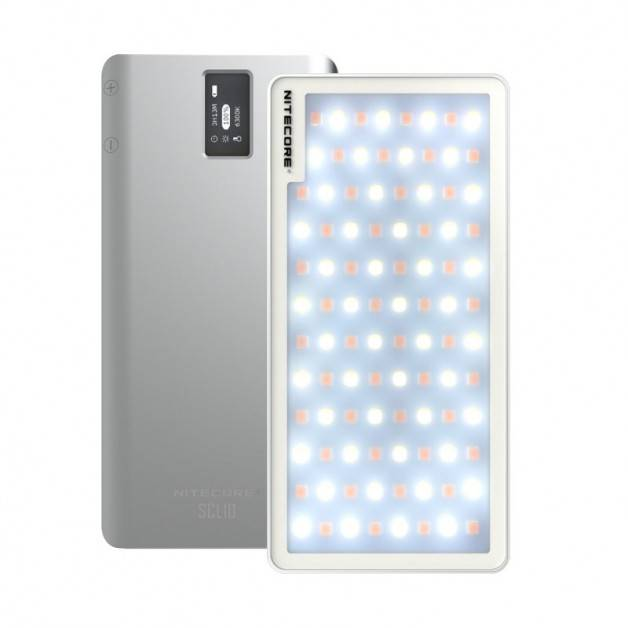 Nitecore SCL10 Smart Camera Light & Power Bank 2-in1- LED-Belysning & Portabelt batteri - 10000mAh, QC 3.0 / PD 18W