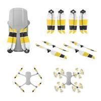 Propeller till DJI Mavic Air 2 - ersätter 7238F - Low Noise - Kit 4-Pack - Gul/Svart