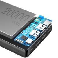 Baseus Mini JA Power Bank - Portabelt batteri - 20000mAh, 2xUSB Typ A 1xUSB-C, 3A