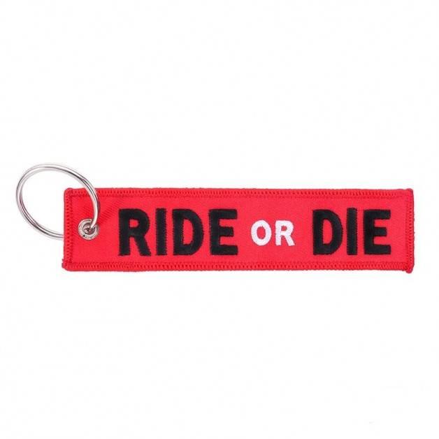 Nyckelband - RIDE OR DIE - Röd/Svart