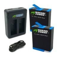 Wasabi Power Batterier och Batteriladdare - Dubbel - för GoPro Hero9 Black - Paket