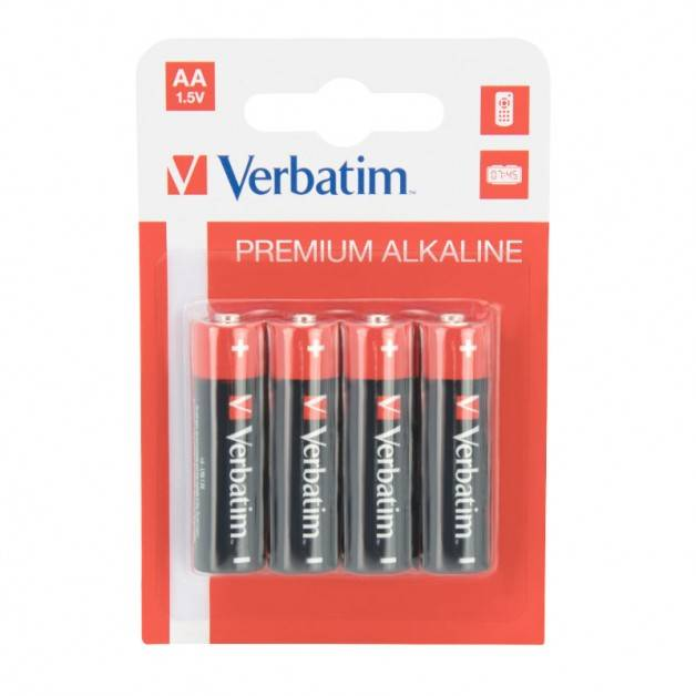 Verbatim Premium Alkaline AA - LR6 Batteri, 1.5v - 4-Pack