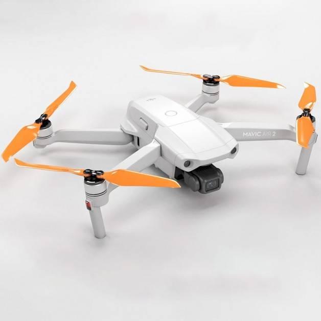 Master Airscrew - DJI Mavic Air 2 Stealth Upgrade Propellers - Propeller till DJI Mavic Air 2 - Orange - Kit 4-Pack