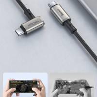 Baseus Hammer USB-C kabel PD 3.1 Gen2, 4K, 100W, 20V/5A, 1.5m - Vinklad - Svart