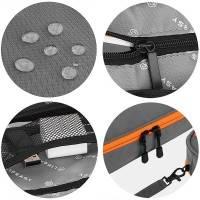 Väska för kablar, tillbehör, teknik - Medium - Grå/Orange