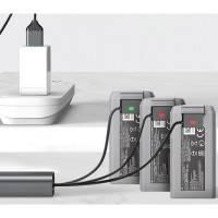 Telesin Snabbladdare Kabel 3 i 1 för batteri till DJI Mini 2/Mini SE - QC2.0