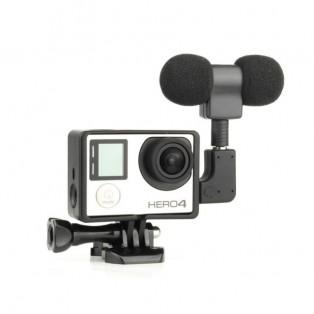 Extern Stereo-Mikrofon till GoPro vinklad adapter