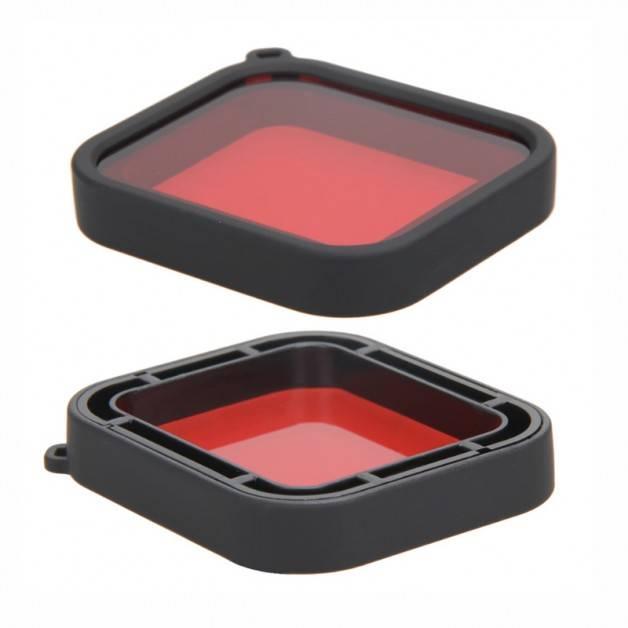 Färgfilter för dyking Röd - Hero5 i vattentätt skal