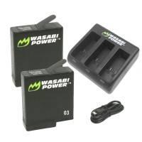 Wasabi Power Batterier och Batteriladdare - Trippel - för GoPro Hero5 - Paket