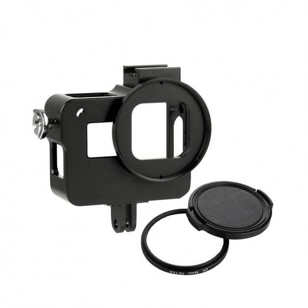 Skyddsram i aluminium och UV-Filter till GoPro Hero5 - Kit