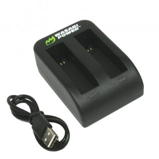 Wasabi Power Batteriladdare för Garmin VIRB Ultra 30 batterier - Dubbel