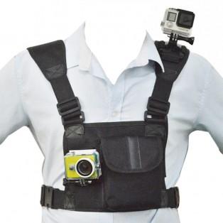 Axel- och bröstsele med dubbla fästen för kamera